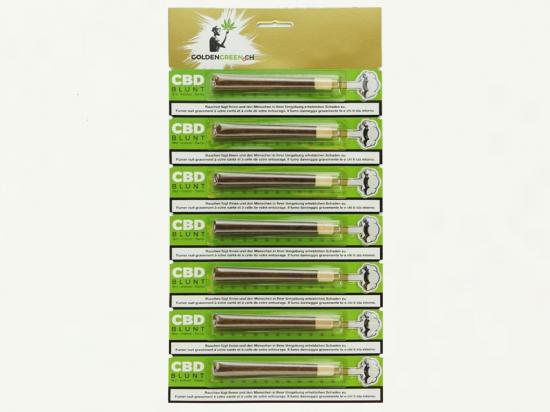 CBD Cannabis Zigarren -7th 417 Gold Blunt MIX (50% Blüte - 50% Tabaccofree)